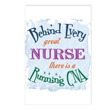 Behind Nurse, Running CNA Postcards (Package of 8)