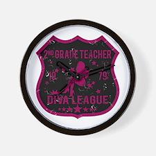 2nd Grade Teacher Diva League Wall Clock