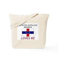 My Dutch Antillian Grandpa Loves Me Tote Bag