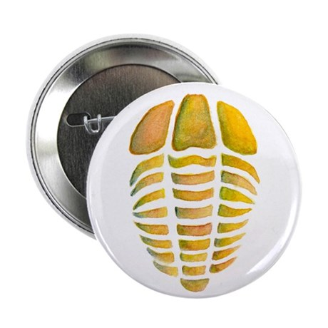 """Yellow Trilobite 2.25"""" Button (10 pack)"""