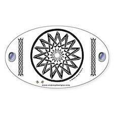 Pentagrams #2 - Oval Decal