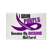 I Wear Purple For My Husband 33 PC Rectangle Magne