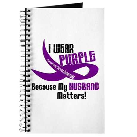 I Wear Purple For My Husband 33 PC Journal