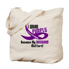I Wear Purple For My Husband 33 PC Tote Bag
