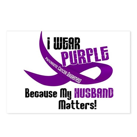 I Wear Purple For My Husband 33 PC Postcards (Pack