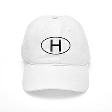 Hungary - H - Oval Baseball Cap