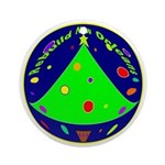 New Orleans Christmas Art Ornament (Round)