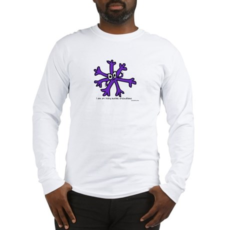 Itchy purple snowflake Long Sleeve T-Shirt
