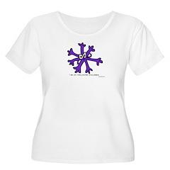 Itchy purple snowflake T-Shirt