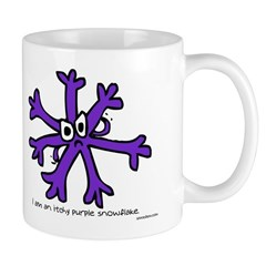 Itchy purple snowflake Mug