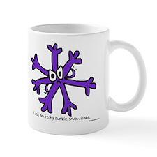 Itchy purple snowflake Mug
