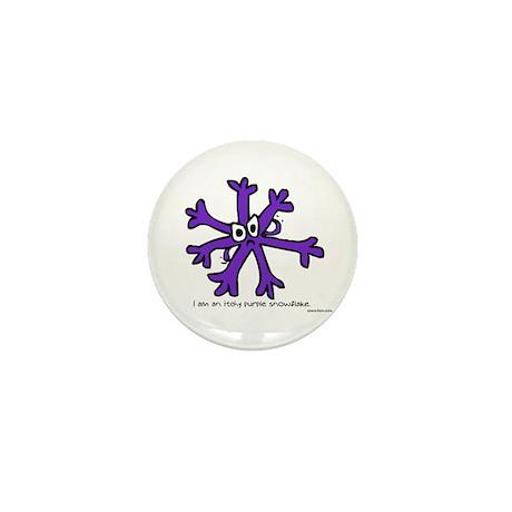 Itchy purple snowflake Mini Button
