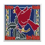 New Orleans Christmas Art Tile Coaster