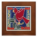 New Orleans Christmas Art Framed Tile