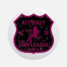 Attorney Diva League Ornament (Round)
