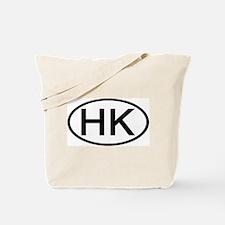 Hong Kong - HK - Oval Tote Bag