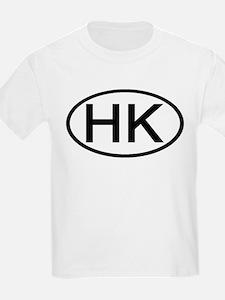 Hong Kong - HK - Oval Kids T-Shirt
