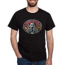 Fear No Evil Skull and Flames T-Shirt