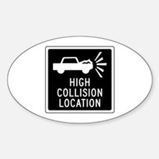 High Collision Location, Canada Oval Decal