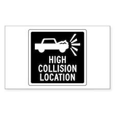 High Collision Location, Canada Decal