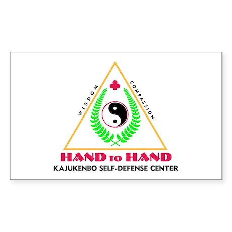 Hand To Hand Classic Logo Rectangle Sticker