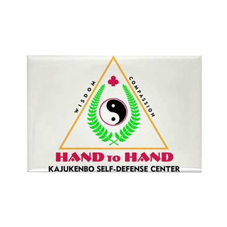 Hand To Hand Classic Logo Rectangle Magnet