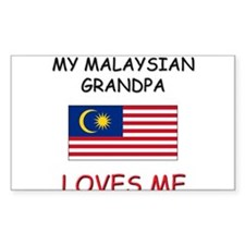 My Malaysian Grandpa Loves Me Rectangle Decal