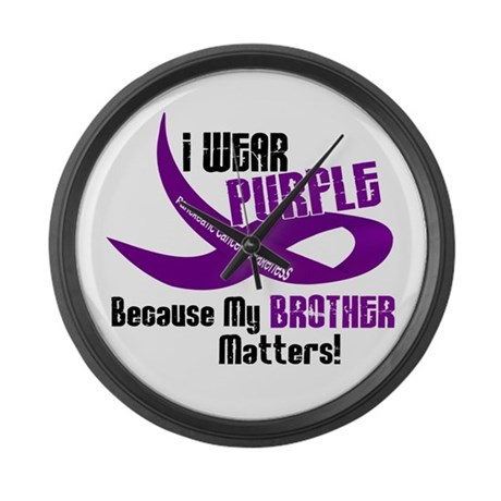 I Wear Purple For My Brother 33 PC Large Wall Cloc