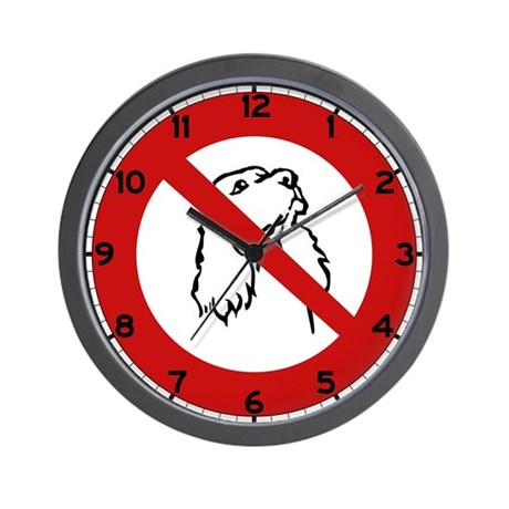No Dogs Allowed, France Wall Clock