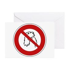 No Dogs Allowed, France Greeting Cards (Pk of 10)