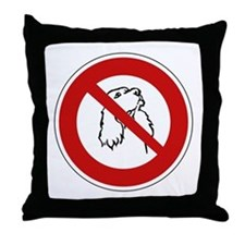 No Dogs Allowed, France Throw Pillow