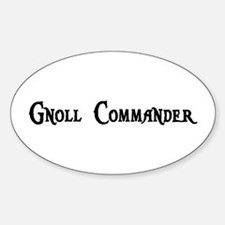 Gnoll Commander Oval Decal