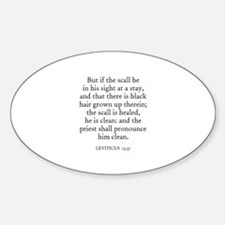 LEVITICUS 13:37 Oval Decal
