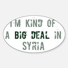 Big deal in Syria Oval Decal