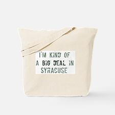 Big deal in Syracuse Tote Bag