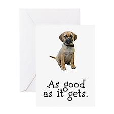 Good Puggle Greeting Card