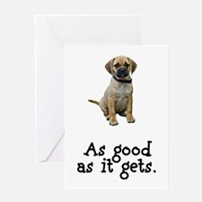 Good Puggle Greeting Card