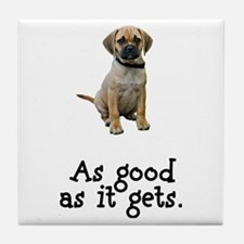 Good Puggle Tile Coaster
