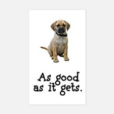 Good Puggle Rectangle Decal
