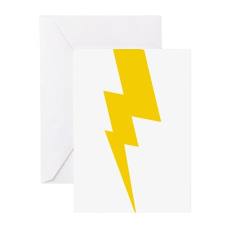 Yellow Flash 3 Greeting Cards (Pk of 20)