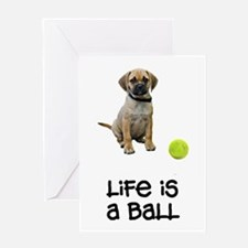 Puggle Life Greeting Card