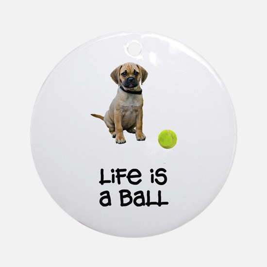 Puggle Life Ornament (Round)