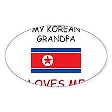 My Kuwaiti Grandpa Loves Me Oval Decal