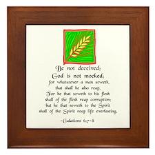 """""""Be Not Deceived"""" Framed Tile"""
