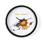Team Edward (Animals) Wall Clock