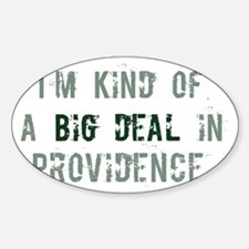 Big deal in Provo Oval Decal