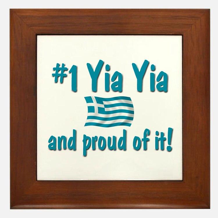 #1 Yia Yia Framed Tile