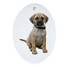 Puggle Oval Ornament