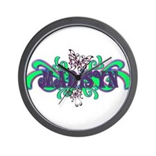 Madisyn's Butterfly Name Wall Clock