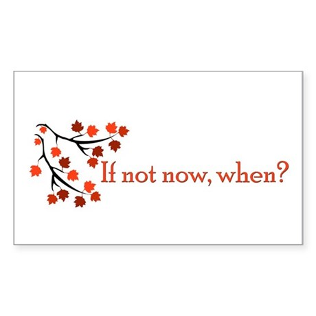 If not now, when? Rectangle Sticker 10 pk)